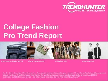 College Fashion Trend Report and College Fashion Market Research