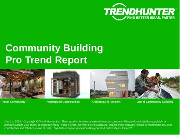 Community Building Trend Report and Community Building Market Research