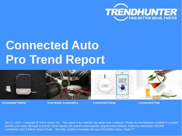 Connected Auto Trend Report and Connected Auto Market Research