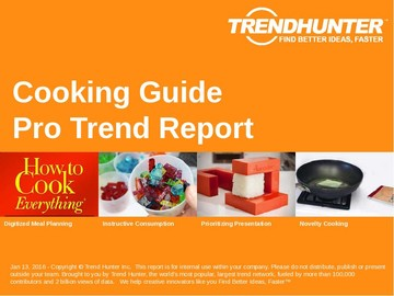 Cooking Guide Trend Report and Cooking Guide Market Research