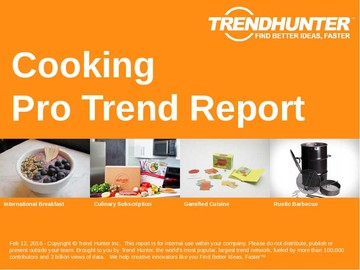 Cooking Trend Report and Cooking Market Research