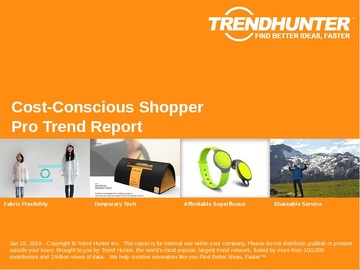 Cost-Conscious Shopper Trend Report and Cost-Conscious Shopper Market Research