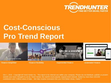 Cost-Conscious Trend Report and Cost-Conscious Market Research