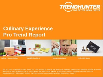 Culinary Experience Trend Report and Culinary Experience Market Research