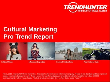 Cultural Marketing Trend Report and Cultural Marketing Market Research
