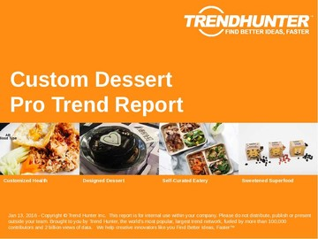 Custom Dessert Trend Report and Custom Dessert Market Research
