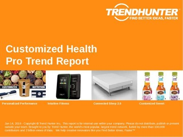 Customized Health Trend Report and Customized Health Market Research