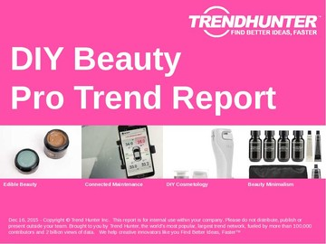 DIY Beauty Trend Report and DIY Beauty Market Research