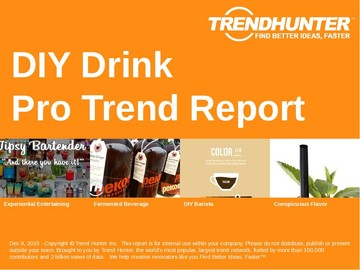 DIY Drink Trend Report and DIY Drink Market Research