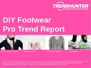 DIY Footwear Trend Report and DIY Footwear Market Research