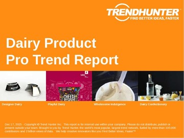Dairy Product Trend Report and Dairy Product Market Research