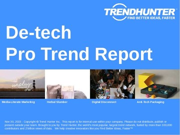 De-tech Trend Report and De-tech Market Research