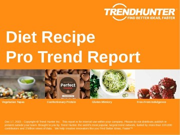 Diet Recipe Trend Report and Diet Recipe Market Research