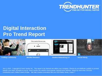 Digital Interaction Trend Report and Digital Interaction Market Research