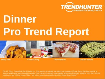 Dinner Trend Report and Dinner Market Research