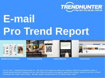 E-mail Trend Report and E-mail Market Research