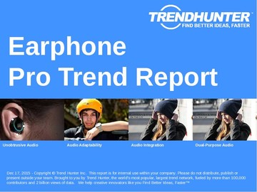 Earphone Trend Report and Earphone Market Research