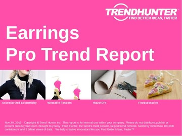 Earrings Trend Report and Earrings Market Research