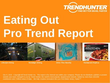 Eating Out Trend Report and Eating Out Market Research