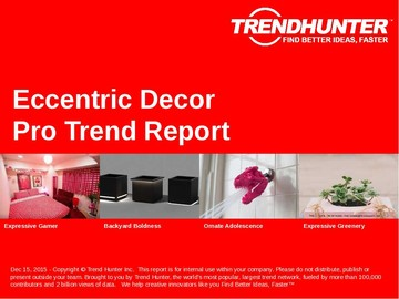 Eccentric Decor Trend Report and Eccentric Decor Market Research