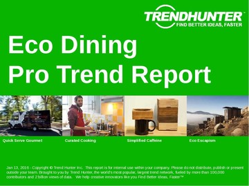 Eco Dining Trend Report and Eco Dining Market Research