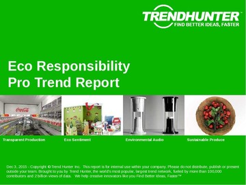 Eco Responsibility Trend Report and Eco Responsibility Market Research