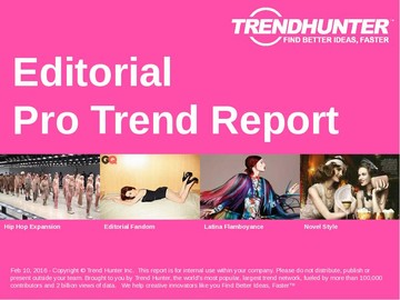 Editorial Trend Report and Editorial Market Research