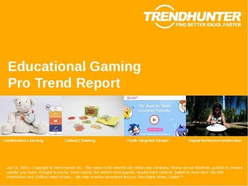 Educational Gaming Trend Report and Educational Gaming Market Research