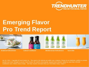 Emerging Flavor Trend Report and Emerging Flavor Market Research