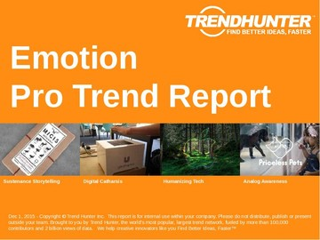 Emotion Trend Report and Emotion Market Research
