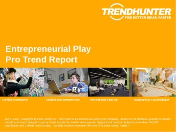 Entrepreneurial Play Trend Report and Entrepreneurial Play Market Research