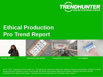 Ethical Production Trend Report and Ethical Production Market Research