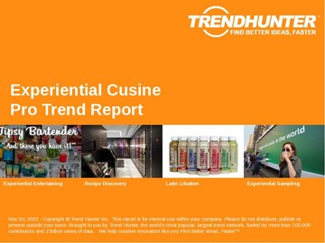Experiential Cusine Trend Report and Experiential Cusine Market Research