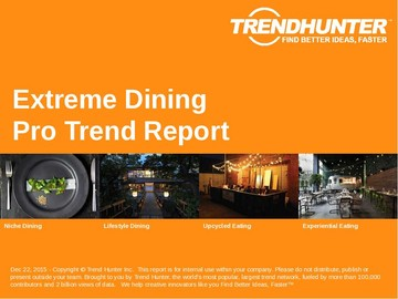 Extreme Dining Trend Report and Extreme Dining Market Research