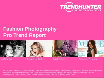 Fashion Photography Trend Report and Fashion Photography Market Research