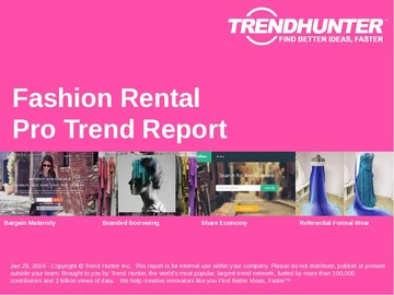 Fashion Rental Trend Report and Fashion Rental Market Research
