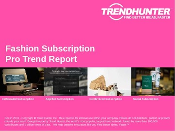 Fashion Subscription Trend Report and Fashion Subscription Market Research