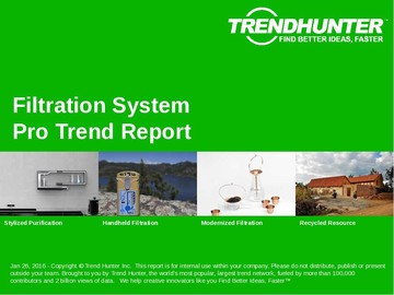 Filtration System Trend Report and Filtration System Market Research