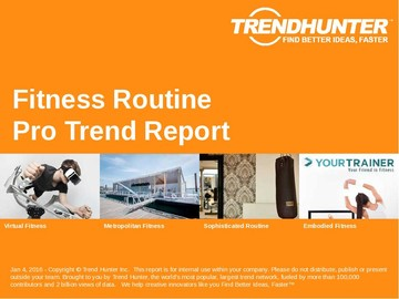 Fitness Routine Trend Report and Fitness Routine Market Research