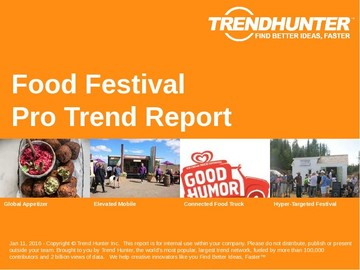 Food Festival Trend Report and Food Festival Market Research