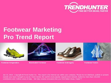 Footwear Marketing Trend Report and Footwear Marketing Market Research