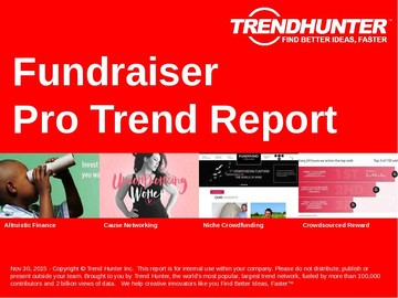 Fundraiser Trend Report and Fundraiser Market Research
