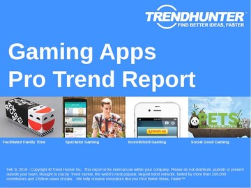 Gaming Apps Trend Report and Gaming Apps Market Research