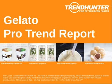 Gelato Trend Report and Gelato Market Research