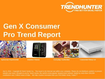 Gen X Consumer Trend Report and Gen X Consumer Market Research