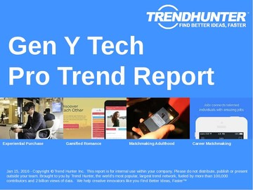 Gen Y Tech Trend Report and Gen Y Tech Market Research