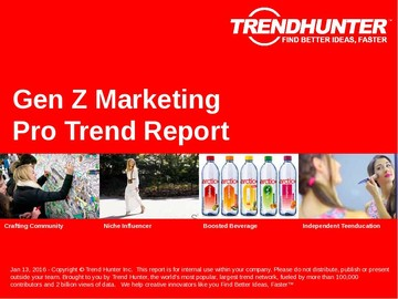 Gen Z Marketing Trend Report and Gen Z Marketing Market Research