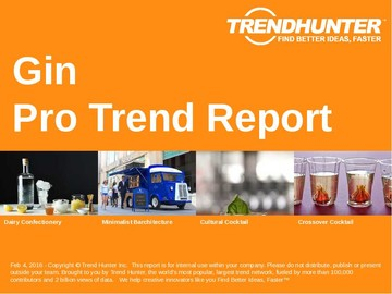 Gin Trend Report and Gin Market Research