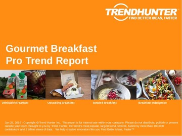 Gourmet Breakfast Trend Report and Gourmet Breakfast Market Research