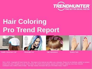Hair Coloring Trend Report and Hair Coloring Market Research